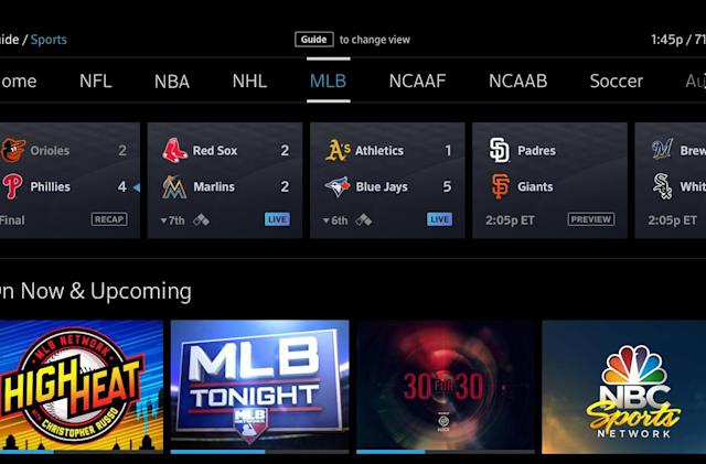 Comcast's new sports guide makes it easier to find games and scores