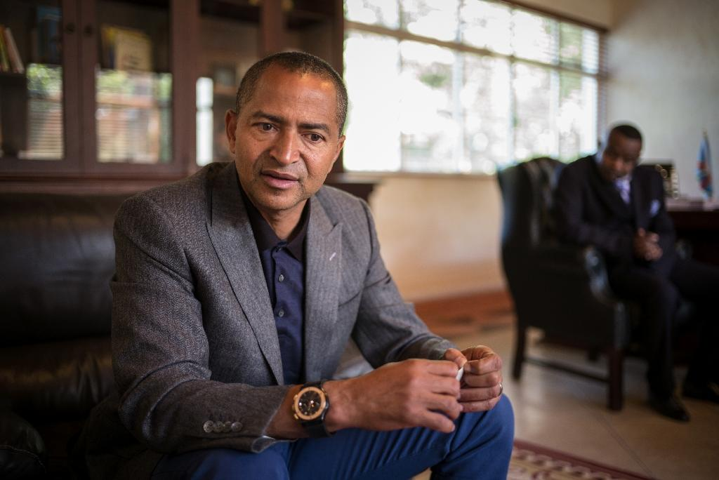 DR Congo's ordered an investigation into the alleged use of foreign mercenaries by opposition politician Moise Katumbi, a likely contender in presidential elections due this year (AFP Photo/Federico Scoppa)