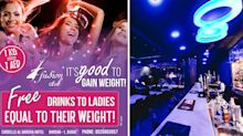 A bar in Dubai is giving women free drinks based on their weight