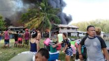 Fire hits residential area in Barangay Basak San Nicolas