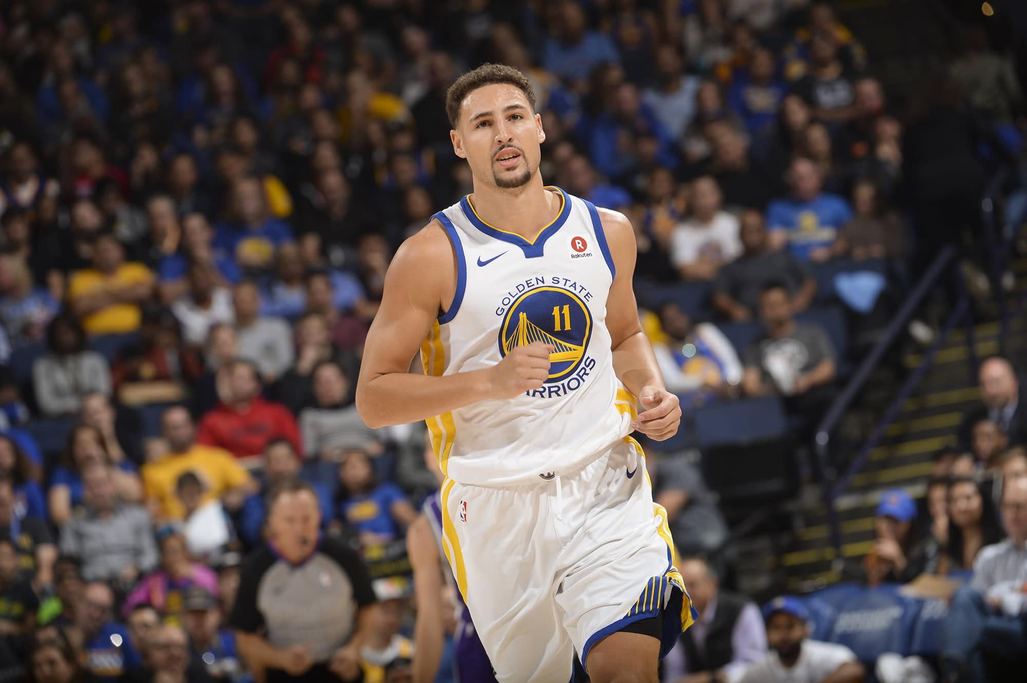 Klay Thompson's Doppelgänger Upstaged Him on NBA Opening Night
