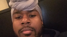 Guys Are Wearing Women's Head Wraps — in Revenge for Stolen Hoodies?