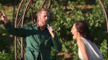 A groom surprises his guests by rapping his wedding vows, but the bride's response is the real shocker