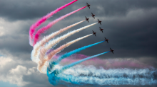 Red, white and blue skies: Red Arrows steal the show at Royal International Air Tattoo