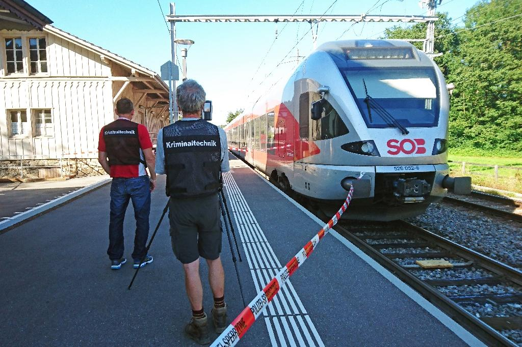The perpetrator of an August 13, 2016 attack on a train carriage in Switzerland was reportedly the son of a teacher who had worked part-time at a car parts supplier and also attended a technical university in Buchs (AFP Photo/Beat Kaelin)