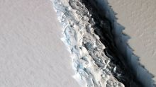 Massive crack in Antarctic ice shelf grows 11 miles in 6 days, potentially creating world's largest iceberg