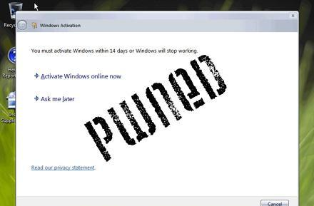 How to permanently activate Windows Vista, at least for now