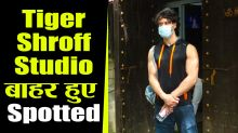 Tiger Shroff Spotted at Aadesh Shrivastava Studio