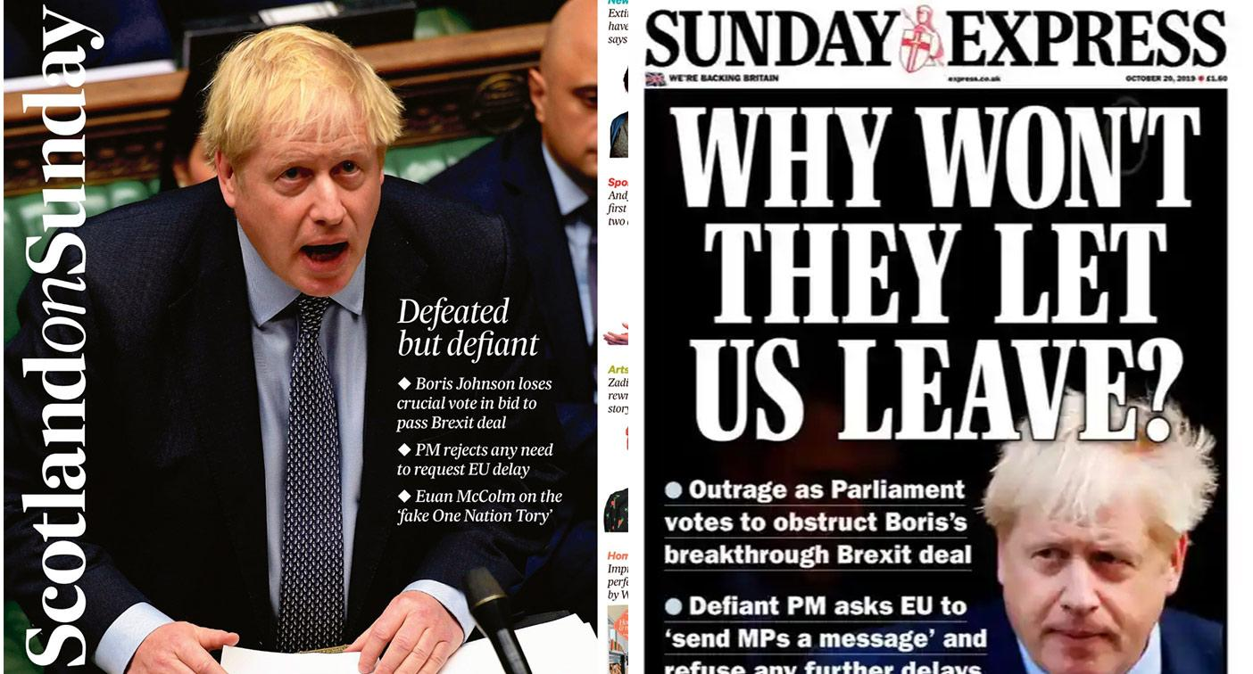 Sunday papers reaction: Brexit Commons defeat