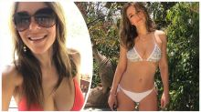 Elizabeth Hurley celebrates 54th birthday in a bikini