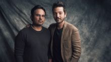 "Interview: Michael Peña and Diego Luna get super serious for ""Narcos: Mexico"""