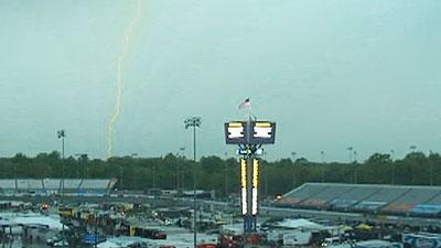 Raw: Severe Weather Disrupts NASCAR Qualifying
