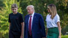 El hijo menor de Trump dio positivo en coronavirus, revela la primera dama