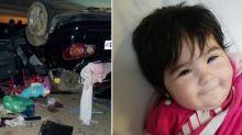 Milagro: se salvó de un grave accidente en la ruta y sus padres la encontraron sonriendo