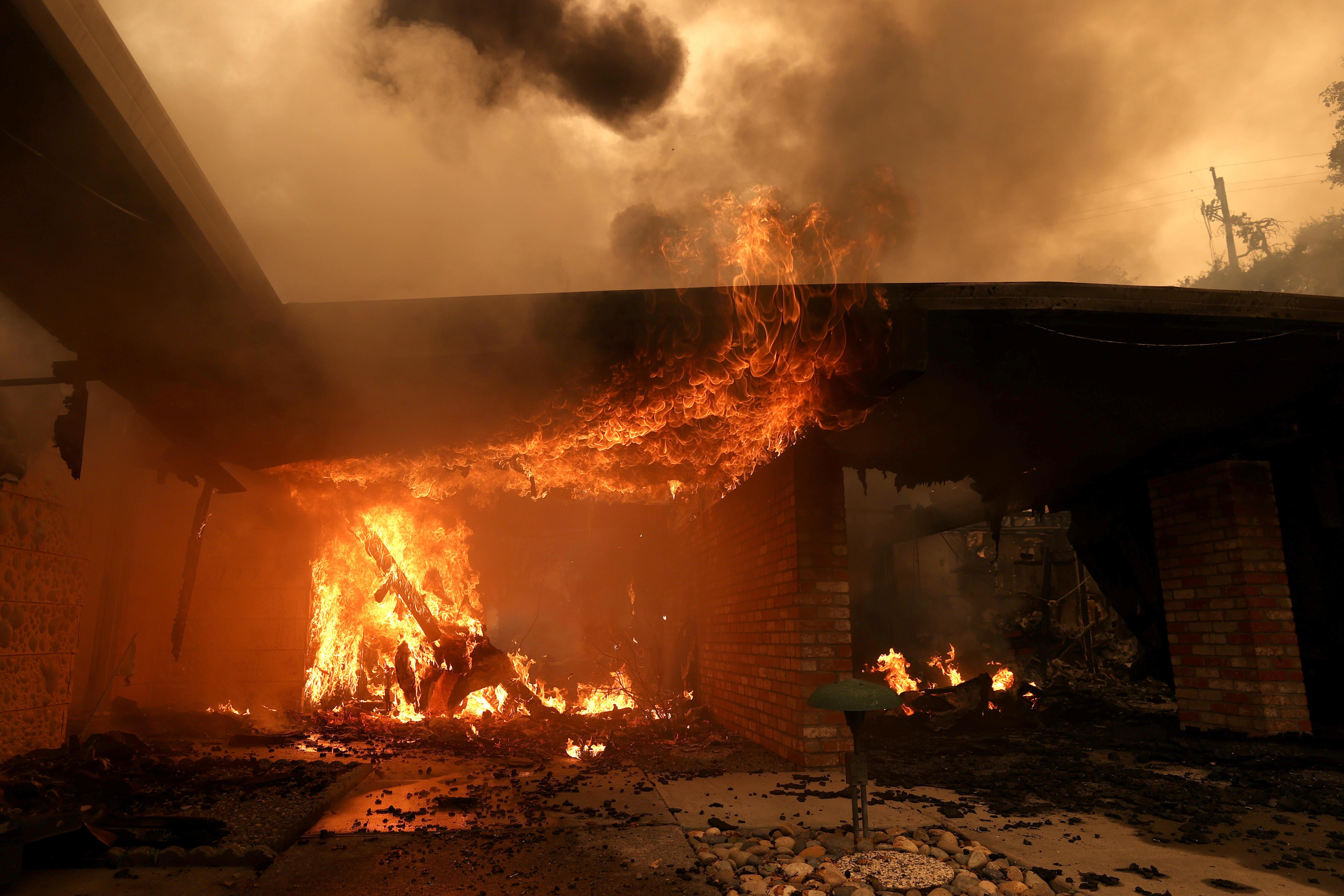 California wildfire scorches wine country as death toll rises