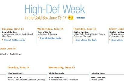 Amazon's Gold Box High-Def week brings deals on movies, games and more