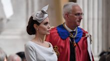 Queen falls ill and pulls out of St Paul's Cathedral service attended by Angelina Jolie