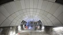Going underground: New Crossrail images show futuristic architecture inside £14.8bn tunnels
