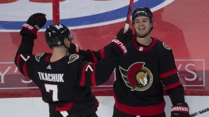 Surging Sens beat Leafs to end season in style