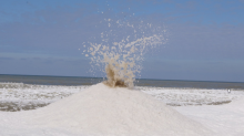 'Ice volcanoes' are erupting on a Lake Michigan beach. Here's what they look like.