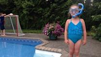 Little Girl Finds Confidence to Swim Alone