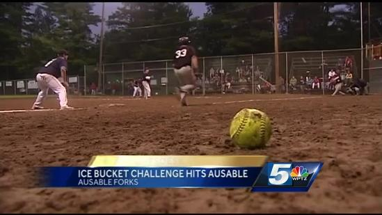 Ice bucket challenge hits AuSable Forks softball tournament