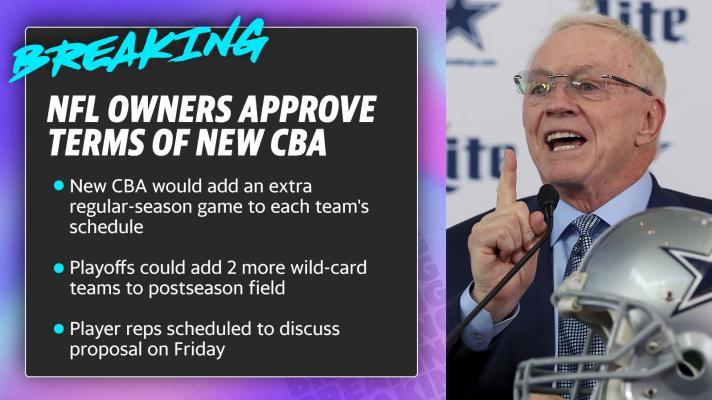 NFL owners approve terms of new CBA