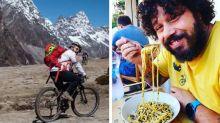 Este chef roda o mundo em sua bike para cozinhar em locais exóticos
