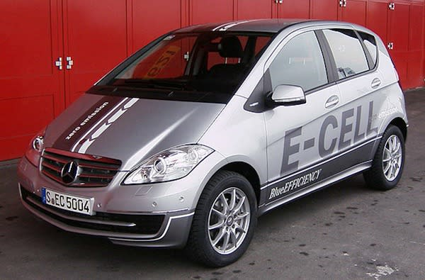 Mercedes' A-Class E-Cell gets taken for a test drive