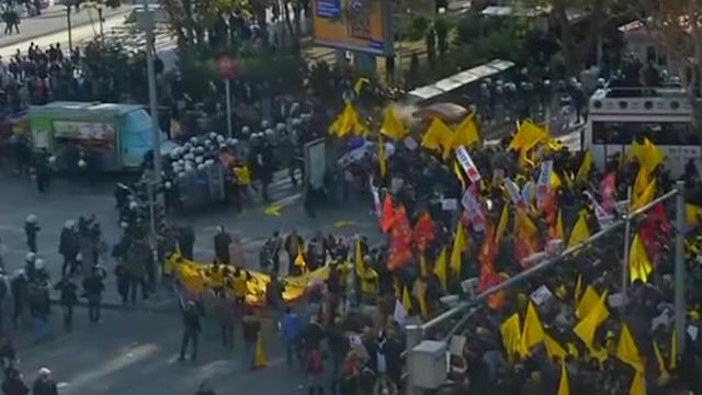 Protesters clash with police over Turkish education policies