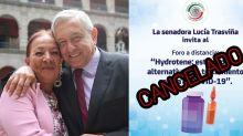 La pifia por una medicina milagro impulsada por una senadora del partido de AMLO