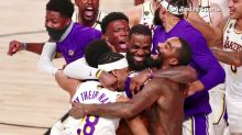 Lakers fans go wild after NBA championship win