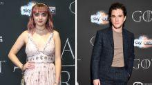 Kit Harington Played Makeup Artist to Maisie Williams on 'GoT' Set