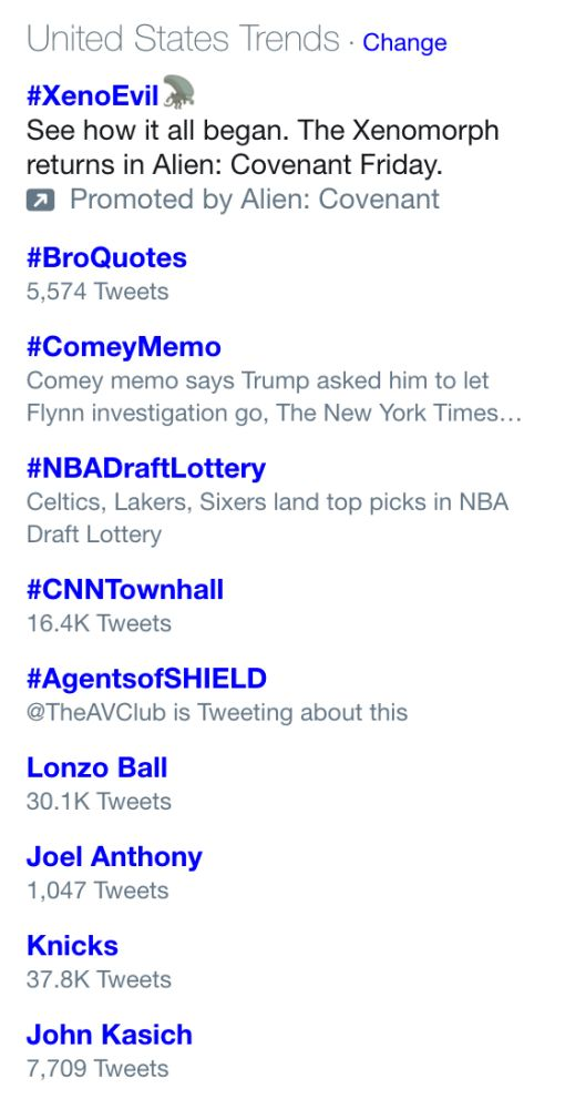 Third from the bottom. That's right: Joel Anthony, trending topic. (Screencap via Twitter)