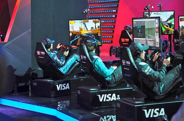 Formula E drivers battled simulator pros in a million-dollar e-race