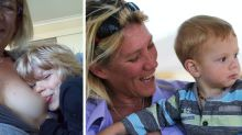 Mum reveals why she breastfeeds seven-year-old son