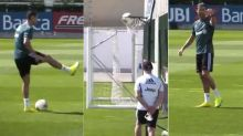 Cristiano Ronaldo Impresses Himself With Mad Skill, Scores a 'Basket' During Training: Watch