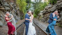 This couple's wedding photo captures 2 generations of long-lasting love