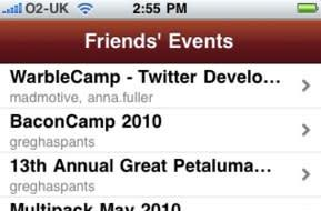 Happening leverages Yahoo events search for your iPhone