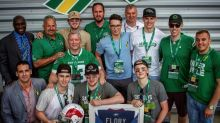Roughriders honour Broncos with 'Humboldt Strong' game