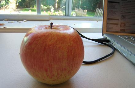 How to build a USB-powered vibrating apple (say wha?)