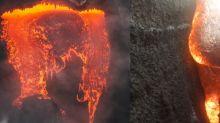 Cámara GoPro sobrevive al baño de lava de un volcán y las imágenes se viralizan