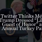 """Twitter Thinks Melania Trump Dressed """"Like the Guest of Honor"""" at the Annual Turkey Pardon"""