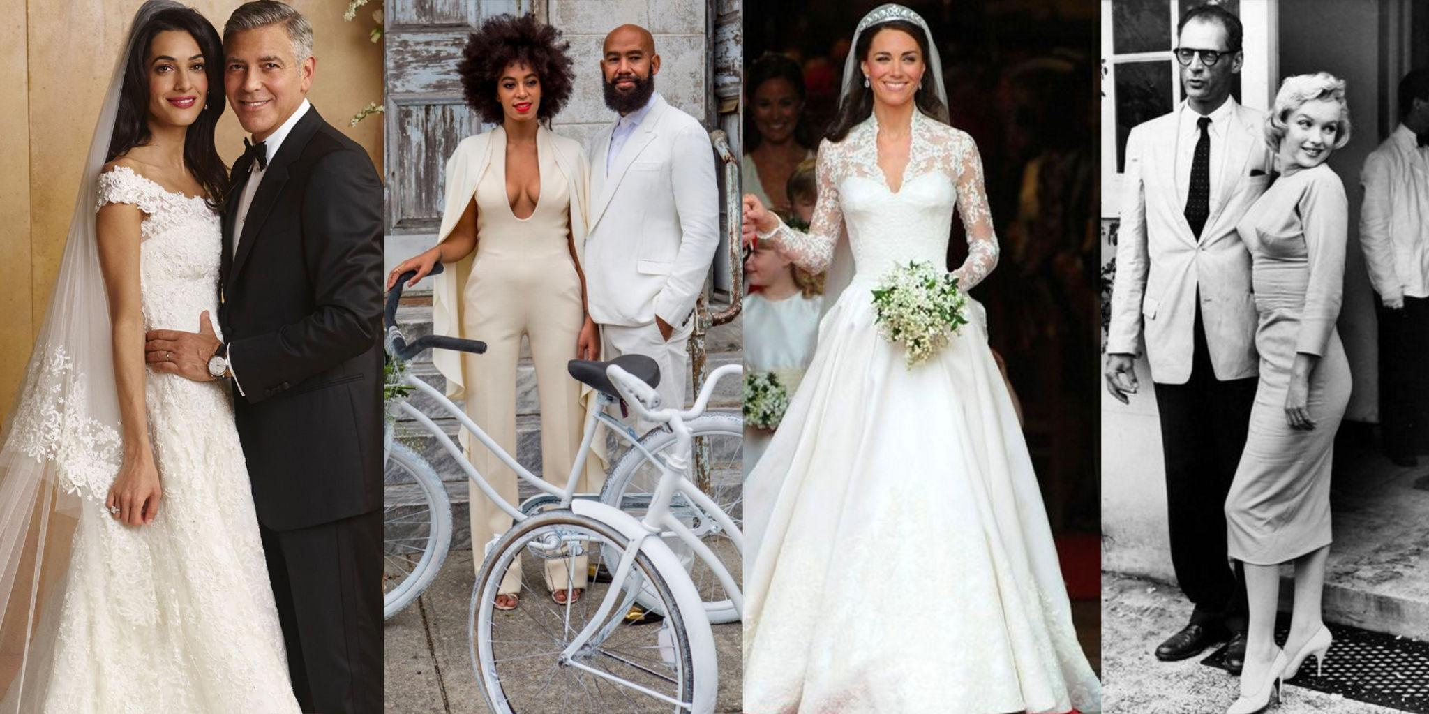 The 50 most iconic wedding gowns in history for Elle king s wedding dress