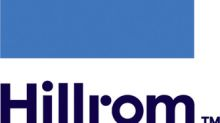 Hillrom Reports Fiscal Third Quarter Financial Results