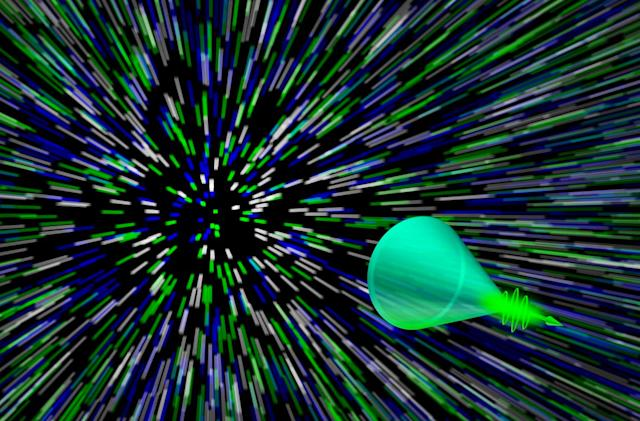 Super-fast camera records light-based 'sonic booms'
