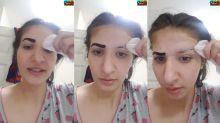 Jovem grava momento em que perde as sobrancelhas por causa de produto comprado na internet