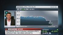 Ackman questions Herbalife's operating income growth