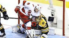 Bruins vs. Hurricanes Highlights: Carolina ties series with 3-2 Game 2 win