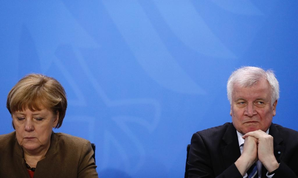 """Seehofer has complained that he had endured a """"conversation with no effect"""" with Merkel about the EU summit results (AFP Photo/ODD ANDERSEN)"""